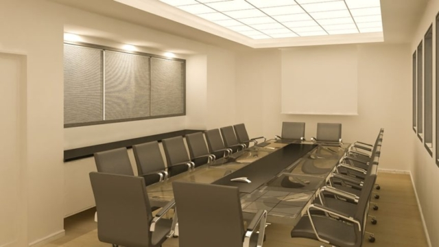 """חדר ישיבות, תכנון ועיצוב ע""""י זהבה טימסית"""