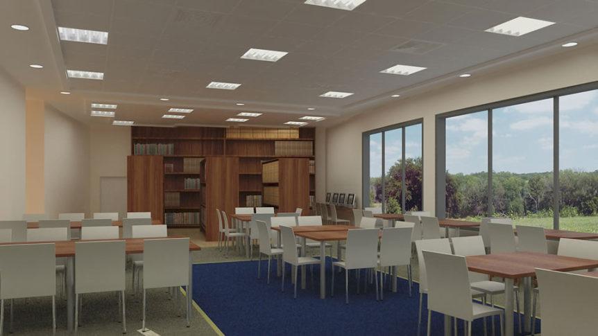 """ספריה עירונית תכנון ועיצוב ע""""י ברכה תשנדי לונדון"""